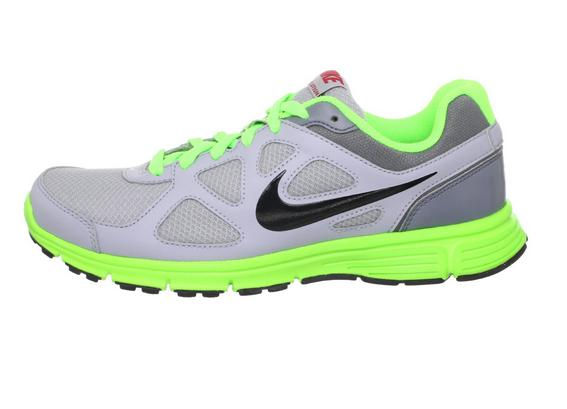 NIKE男子跑步鞋 绿灰 249包邮