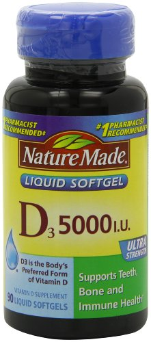 Nature Made 液体维生素D3软胶囊 5000Iu*90粒