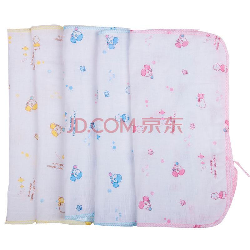 微信端:久爱久 婴儿方巾 纯棉纱布手帕 5条装  6.93元(9.9,3件7折)