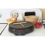 Eurolux 12英寸摊煎饼炉(包括木制煎饼刮板)