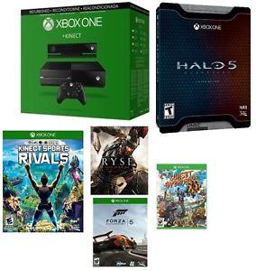 降50刀!Microsoft 微软 Xbox One 家庭娱乐游戏机 + Kinect体感 官翻版 +5游戏