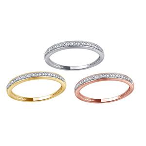 Groupon :Brilliant Diamond 镶钻10K 金戒指