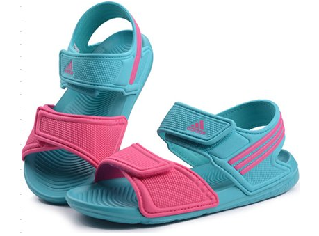 2016新款!Adidas阿迪达斯 Akwah K 大童款凉鞋/沙滩鞋