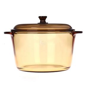 乐美雅 VITRO玻璃琥珀色透明圆锅 3L