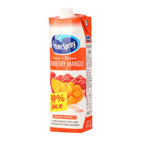 Ocean Spray 优鲜沛 蔓越莓芒果复合果汁 1L