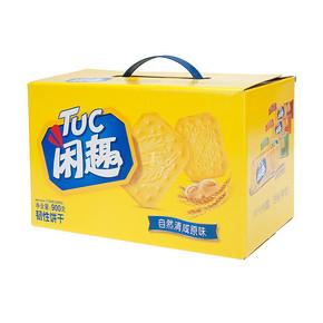 闲趣 韧性饼干 自然清咸原味 900g