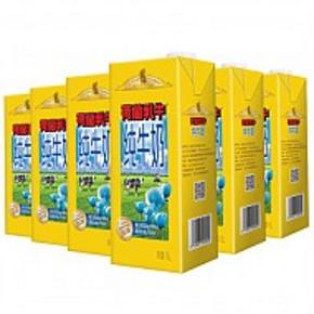 荷兰乳牛 超高温灭菌全脂纯牛奶 1L*6盒