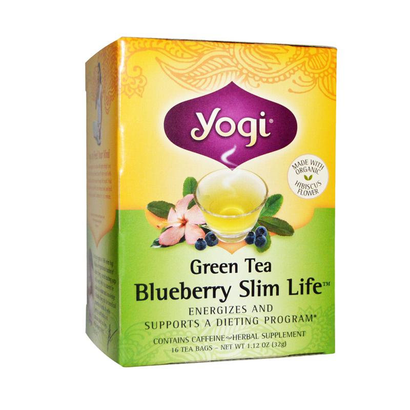 【虎扑卡路里】yogi tea 蓝莓绿茶瘦身茶 16包/盒