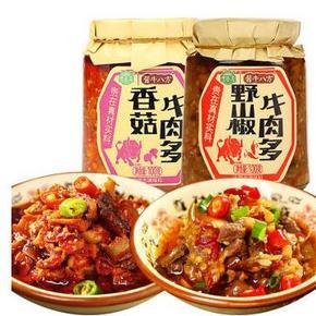 吉香居 香菇牛肉多100g+野山椒牛肉多100g