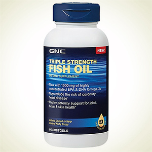 GNC:健安喜 三倍强效鱼油 60粒