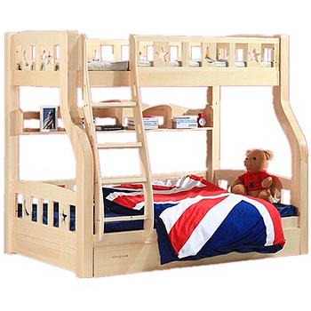 历史新低国美在线 悠佰 全实木儿童床(直梯款)