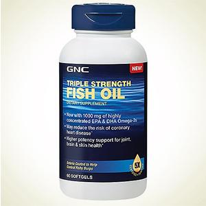 GNC:健安喜 三倍强效深海鱼油 60粒特卖 原价$29.99