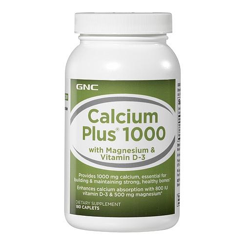 GNC Calcium Plus® 1000mg 钙片 180粒