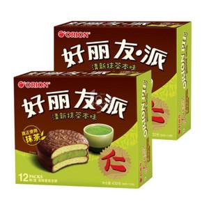 好丽友 派清新抹茶本味 432g*2件