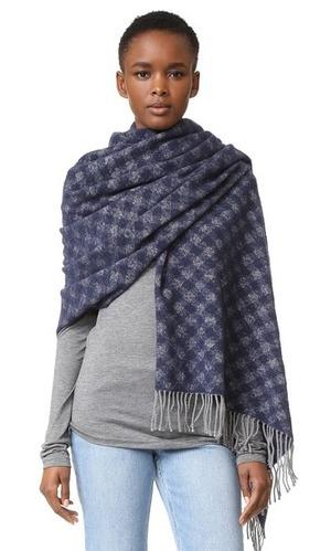 Acne Studios 格子羊毛围巾(黄、蓝两色)