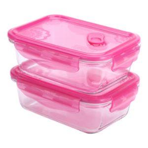 乐美雅(Luminarc)钢化耐热玻璃保鲜盒 820ML*2