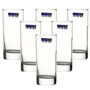 【京东超市】乐美雅 Luminarc 220毫升 6只装 圆形玻璃水杯茶杯果汁杯