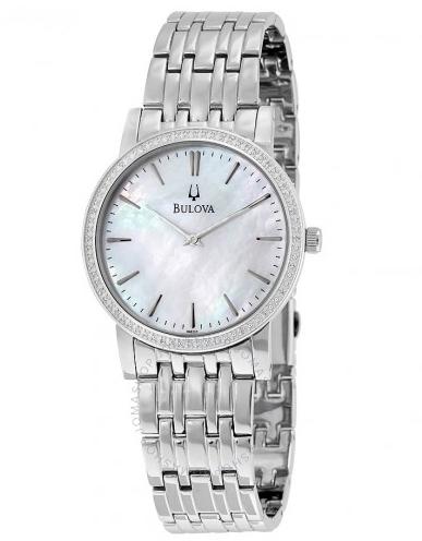 BULOVA 宝路华 Classy 96E110 女士镶钻时装腕表
