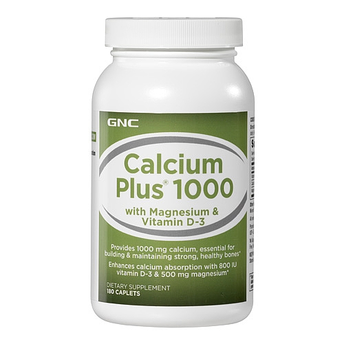 GNC Calcium Plus® 钙镁片1000mg*180粒
