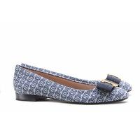 $175(原价$250) Tory Burch Gemini 淡蓝色印花蝴蝶结平底鞋