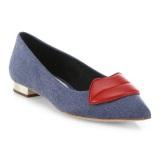 Alice + Olivia 牛仔布红唇平底鞋 $177(约1282元)
