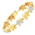 吉祥的小象镶钻连串手链