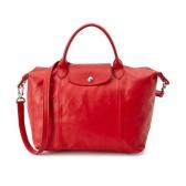 """女神高圆圆同款!Longchamp 中号 """"Le Pliage Cuir"""" 皮制饺子手提包 $411.99(约2984元)"""