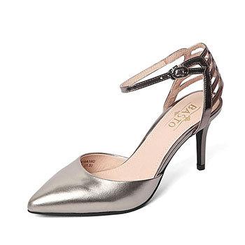 优购时尚商城 BASTO百思图 专柜同款女中空凉鞋 199元包邮 已降89元