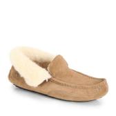 Ugg 男士舒适毛皮麂皮单鞋 $48.75(约353元)