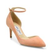 Jimmy Choo Lucy  6.5厘米麂皮系带高跟鞋 三色可选 $278(约2014元)