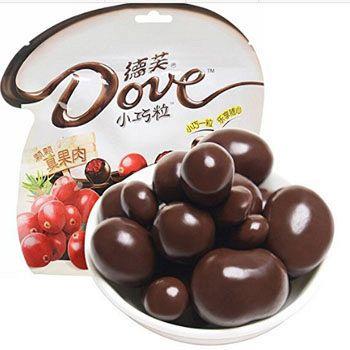 已过期亚马逊中国 Dove德芙 巧克力小巧粒 100g*3包