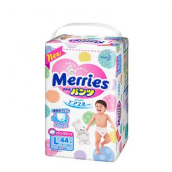 国美在线 日本花王Merries 拉拉裤L44片 大号