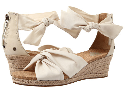 UGG Starla Cream 女士坡跟凉鞋