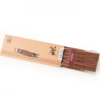 亿嘉(IJARL) 环保健康餐具配件 红木筷子套装5双装 9.9元