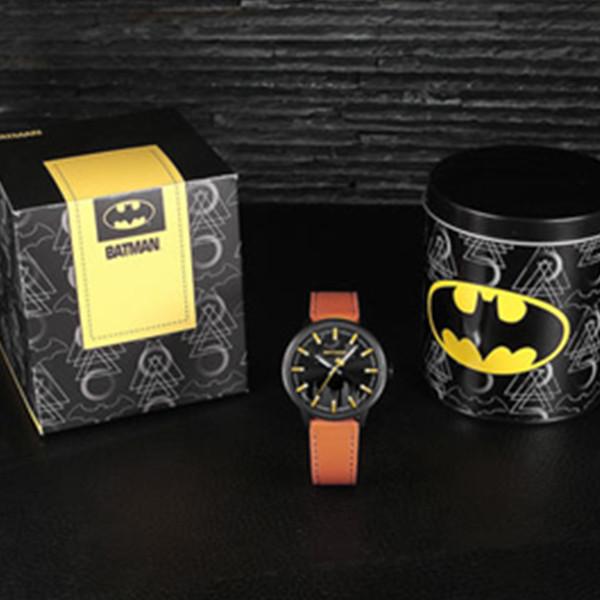 时尚有型!ODM BATMAN 蝙蝠侠系列皮表带石英腕表 99元