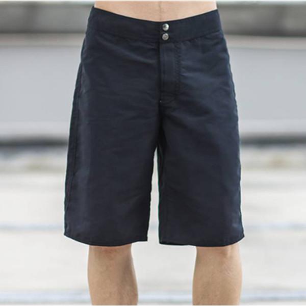好货!islandhaze 时尚休闲黑色短裤平腰直筒裤 黑色 99元