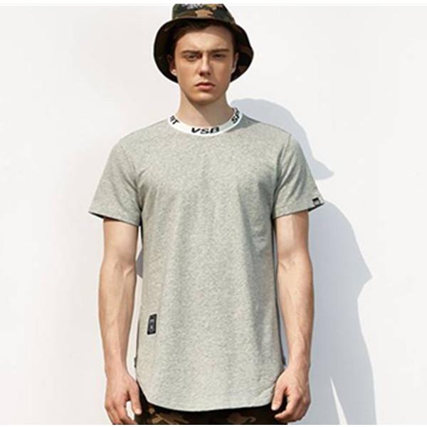 时尚潮流!VISIBLE 撞色领圆下摆短袖T恤 59元