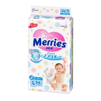 国美在线 Kao花王 Merries 婴儿纸尿裤 L54片 *2件
