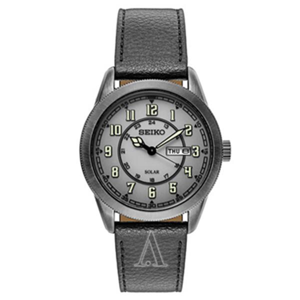 酷黑款式!SEIKO 精工SNE447 男士太阳能时装腕表 $89(转运到手约¥650)