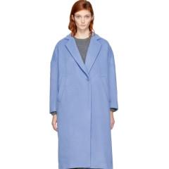 Enfold Blue Wool Loose Fit Coat 女款简约蓝色大衣
