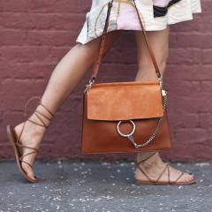 Chloé Brown Medium Faye Bag 封面同款同色包包