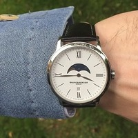 $699 (原价$1850) 国内1W2千9 Baume and Mercier Classima Executives 系列月相时装男表
