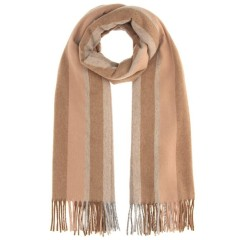 好价可入~~Acne Studios Brown Striped Canada Scarf 棕色条纹羊毛围巾