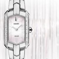 $118 (原价$475) SEIKO Tressia 系列镶钻典雅珍珠母贝太阳能时装女表