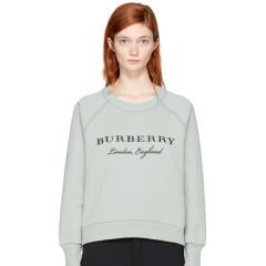 S码最后一件~Burberry Blue Torto Logo Sweatshirt 品牌logo图案卫衣