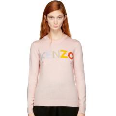 Kenzo Pink Logo Sweater 女款粉色羊毛毛衣