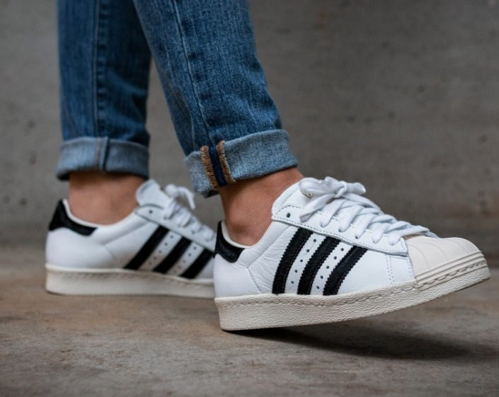 折合308元 adidas Originals White Superstar 80s Sneakers 女款小白鞋