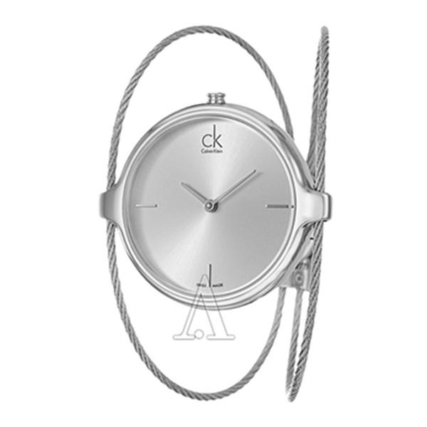 简约设计!Calvin Klein K2Z2S116 时尚女表 $58(转运到手约¥430)