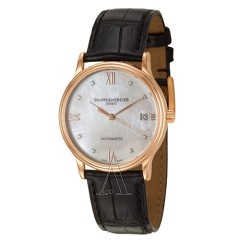 Baume and Mercier 名士表 Classima Executives 系列 MOA10077 女士18K玫瑰金手表