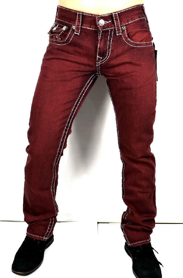 风骚牛仔8倍差价!True Religion真实信仰彩色直筒牛仔裤 97.75美元约¥642(国内4K-5K) 买手党-买手聚集的地方